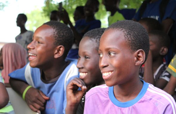 Middle school boys in the town of Ourossogui
